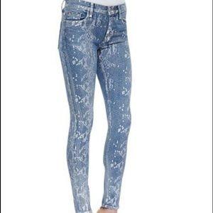 Hudson snakeskin print skinny jeans